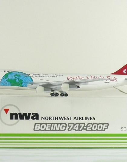 Northwest Airlines Boeing 747-200F Investing in Pacific Trade - Sky 500 NW0557x