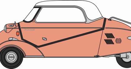 Messerschmitt KR200 Bubble Top Rose - Oxford Diecast 18MBC003