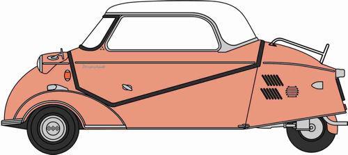 Messerschmitt KR200 Bubble Top Rose – Oxford Diecast 18MBC003 1