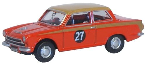 Ford Cortina Mk I Red/Gold Racing - Oxford Diecast 76COR1004