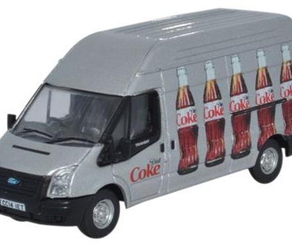 Ford Transit MK 5 LWB High Roof Diet Coke (Bottles) - Oxford Diecast 76FT018CC