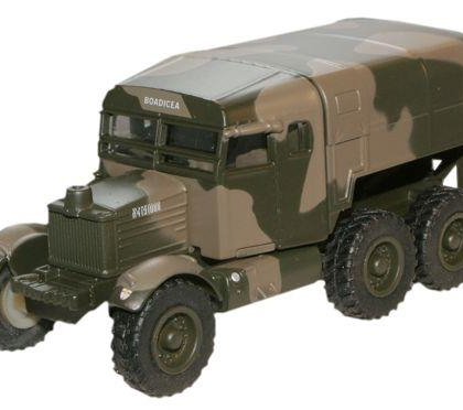Scammell Pioneer Royal Artillery Tractor 1st Army -Oxford Diecast 76SP004 - OO Scale(OD76SP004)