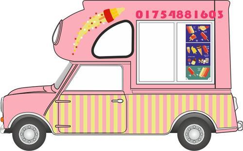 Mini Batman Ice Cream Van Huskys Ices - Oxford Diecast MP011