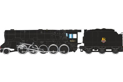 2-10-0 Crosti Boiler 9F Class Early BR Weathered -Hornby R3356 Railroad