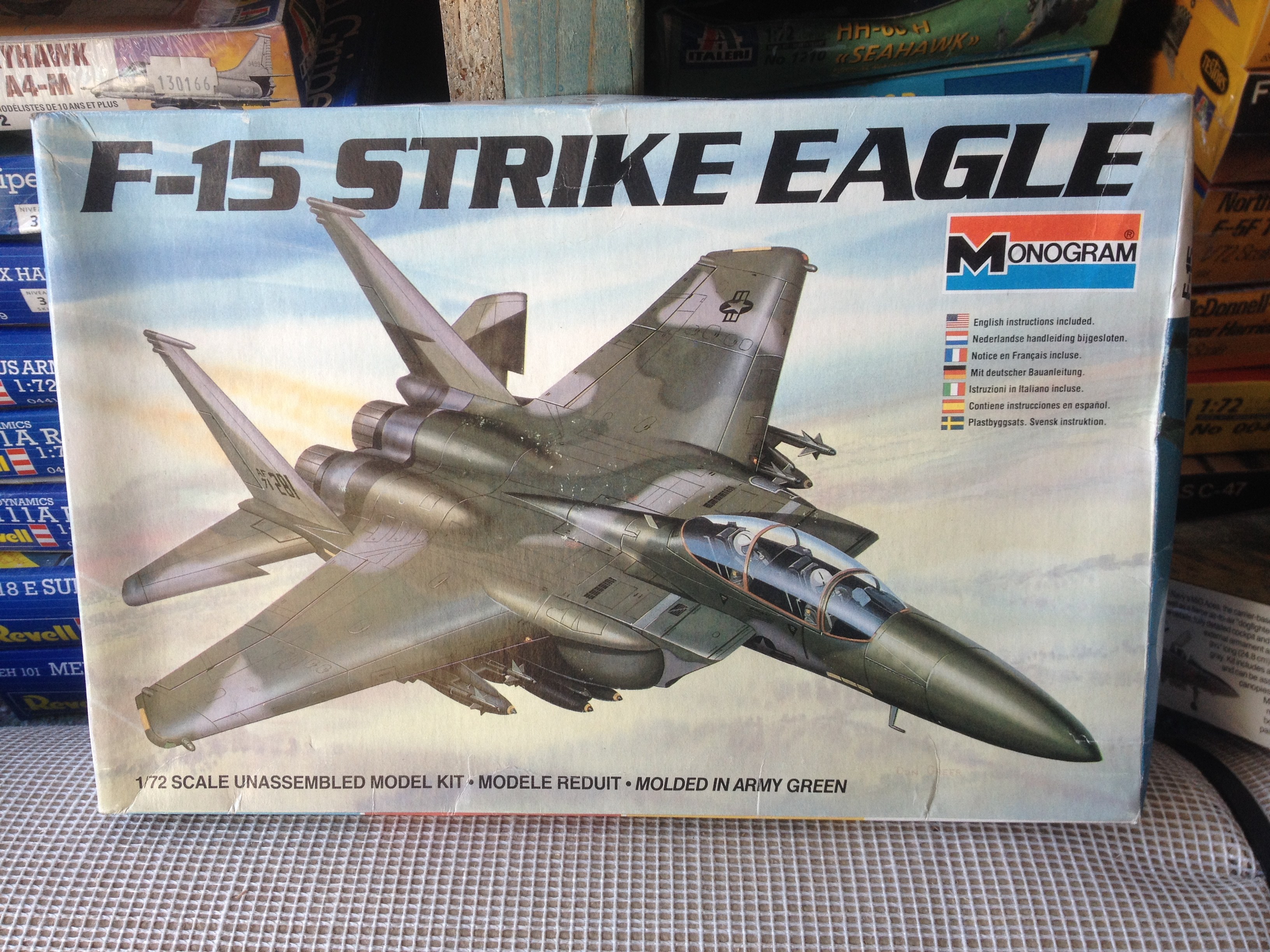 F-15 Strike Eagle US Air Force - Monogram 1/72nd scale plastic kit